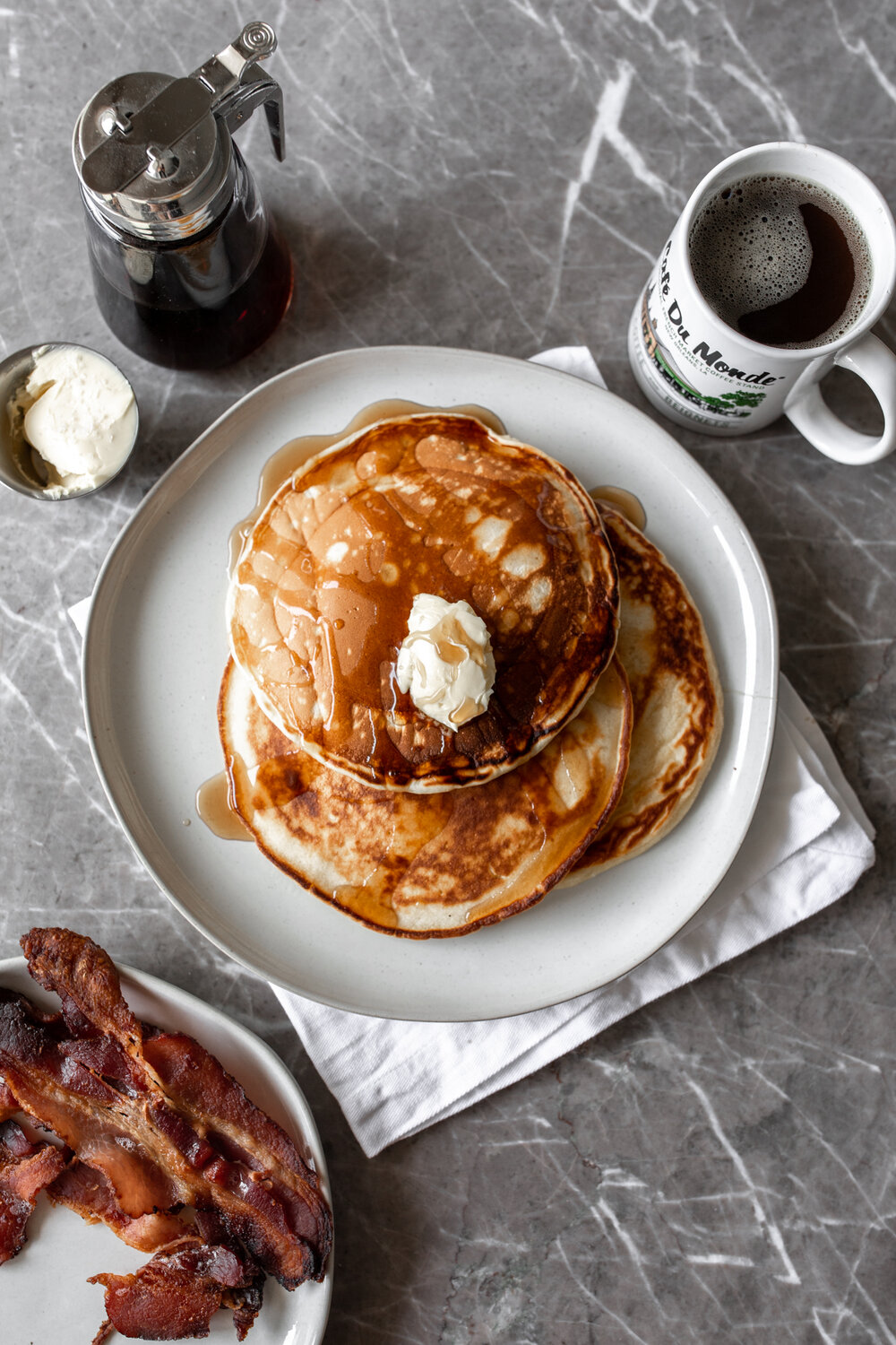 - Diner-Style Buttermilk Pancakes- Guess what? You don't need pancake mix