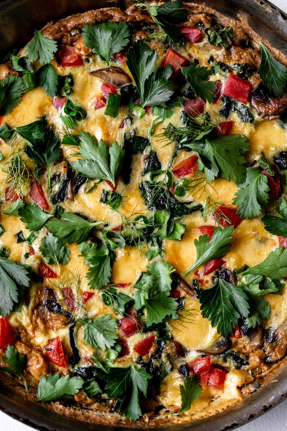 - Veggie Frittata- This is a great recipe because it's so flexible – toss in whatever veggies (or even meat) you have leftover.