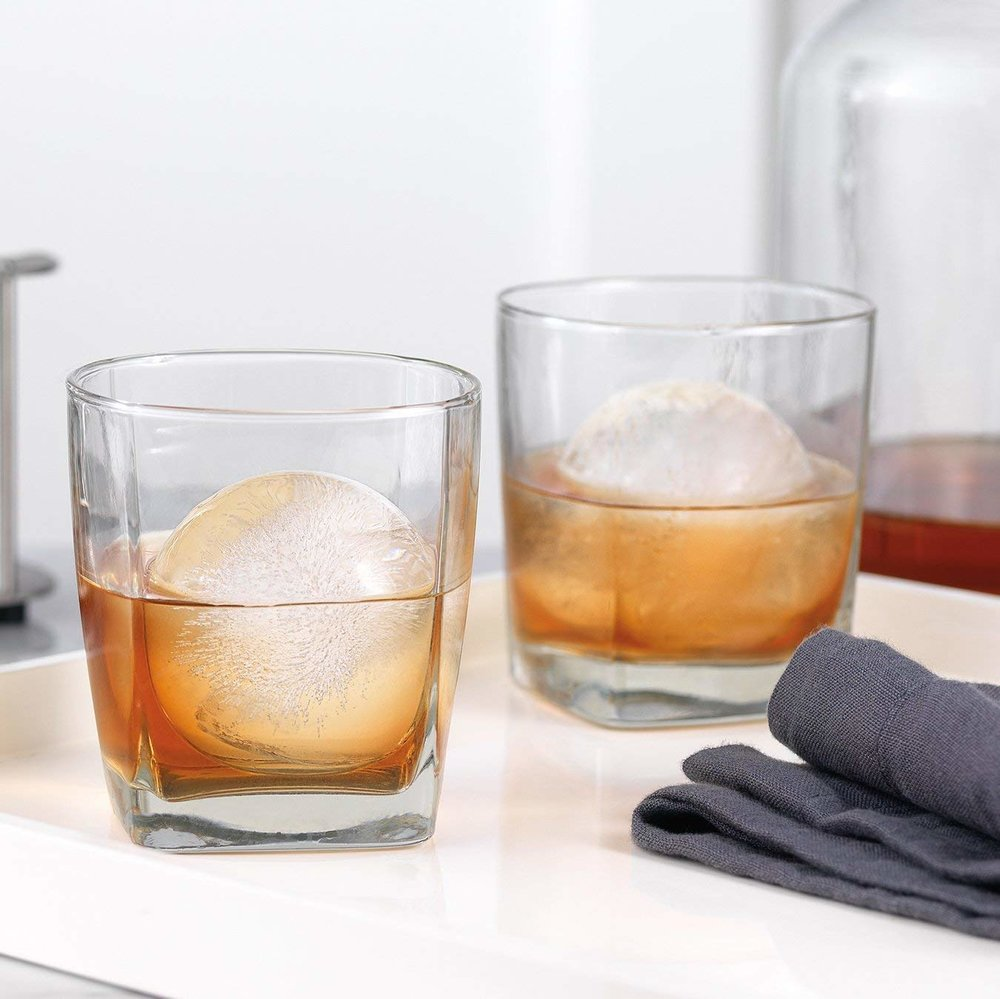 Old Fashioned Sphere Ice Molds Perfect for the whiskey connoisseur, these ice molds make large spheres that melt slowly to keep your drink chilled longer and to preserve the flavor.