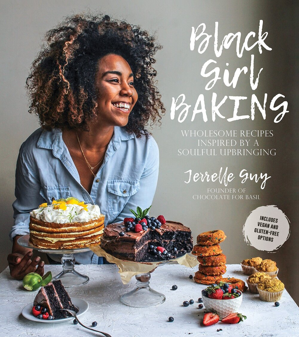 - Black Girl Baking: Wholesome Recipes Inspired by a Soulful Upbringing by Jerrelle GuyHer book was a 2019 James Beard Foundation nominee and focuses on story-telling through the 5 senses.