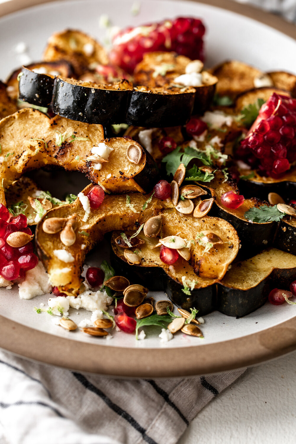 Ancho Chili Roasted Acorn Squash with Queso
