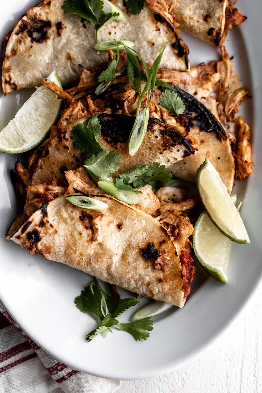 Baked Crispy Chicken Tinga Tacos