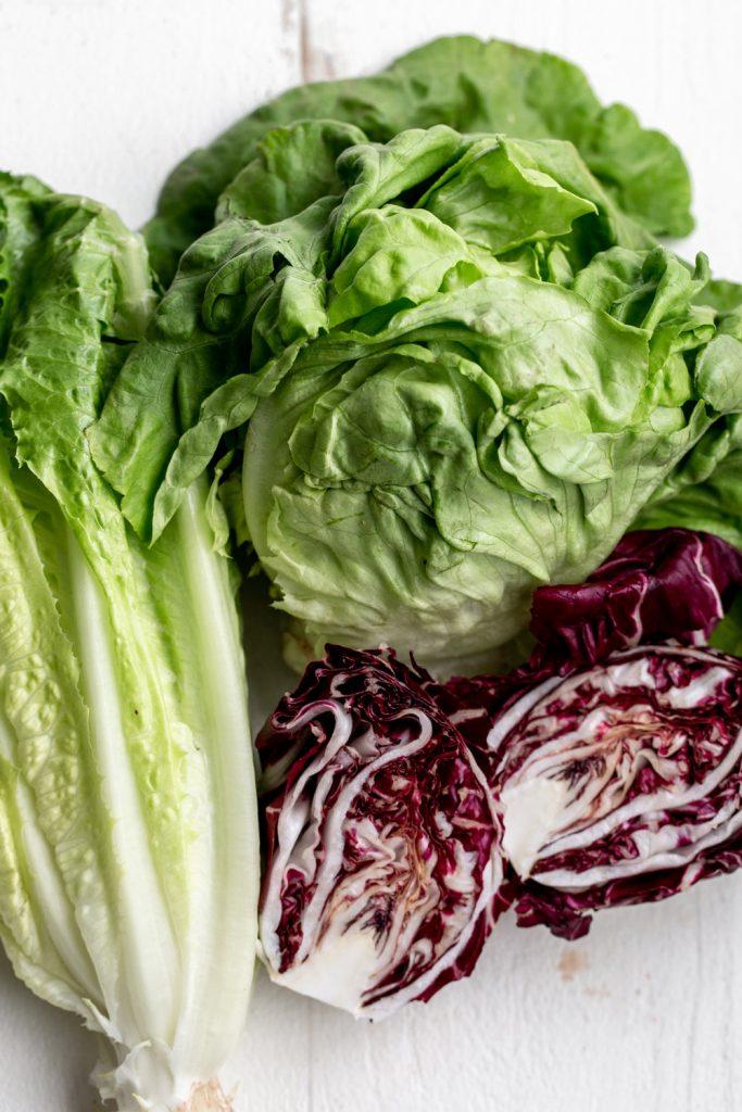 romaine, radicchio and butter lettuce