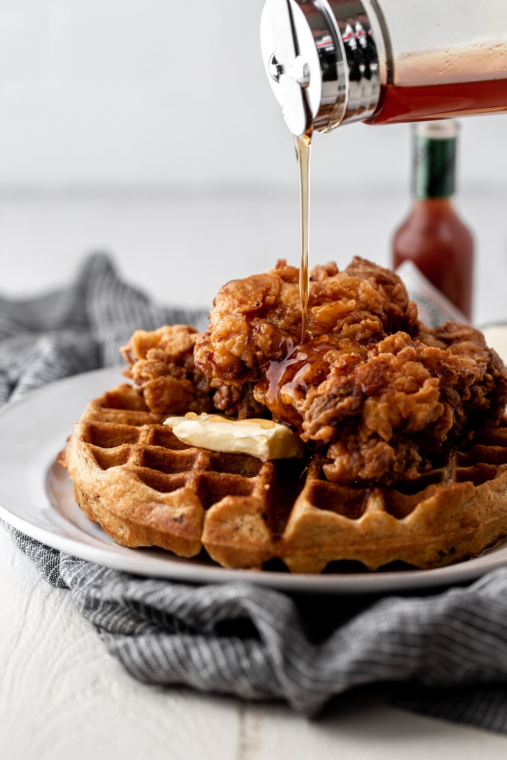 Fried Chicken and Waffles with Hot Sauce Maple Syrup-40.jpg