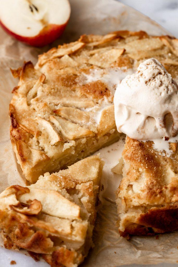 German Almond-Apple Butter Cake