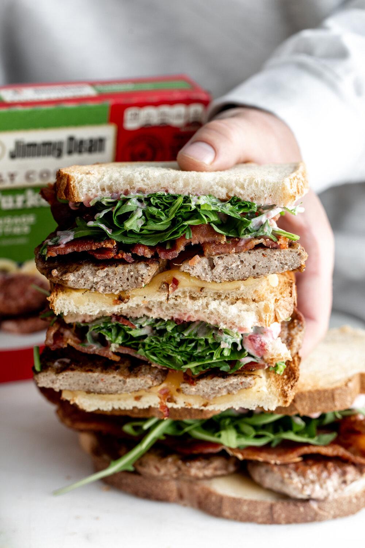 Kroger jimmy dean turkey sausage breakfast sandwich with cranberry mayo-12.jpg