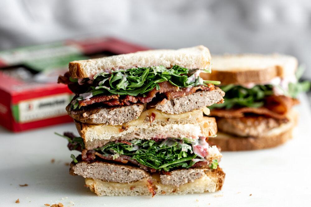 Kroger jimmy dean turkey sausage breakfast sandwich with cranberry mayo-8.jpg