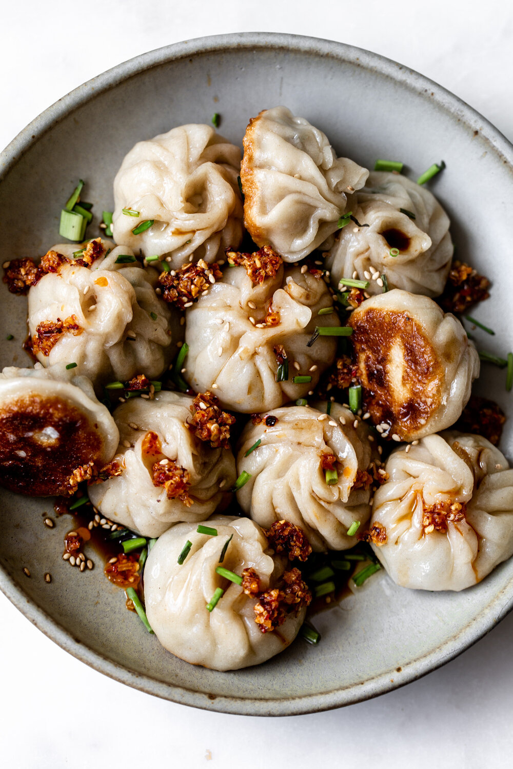 Juicy Pork & Chive Pan-Fried Dumplings