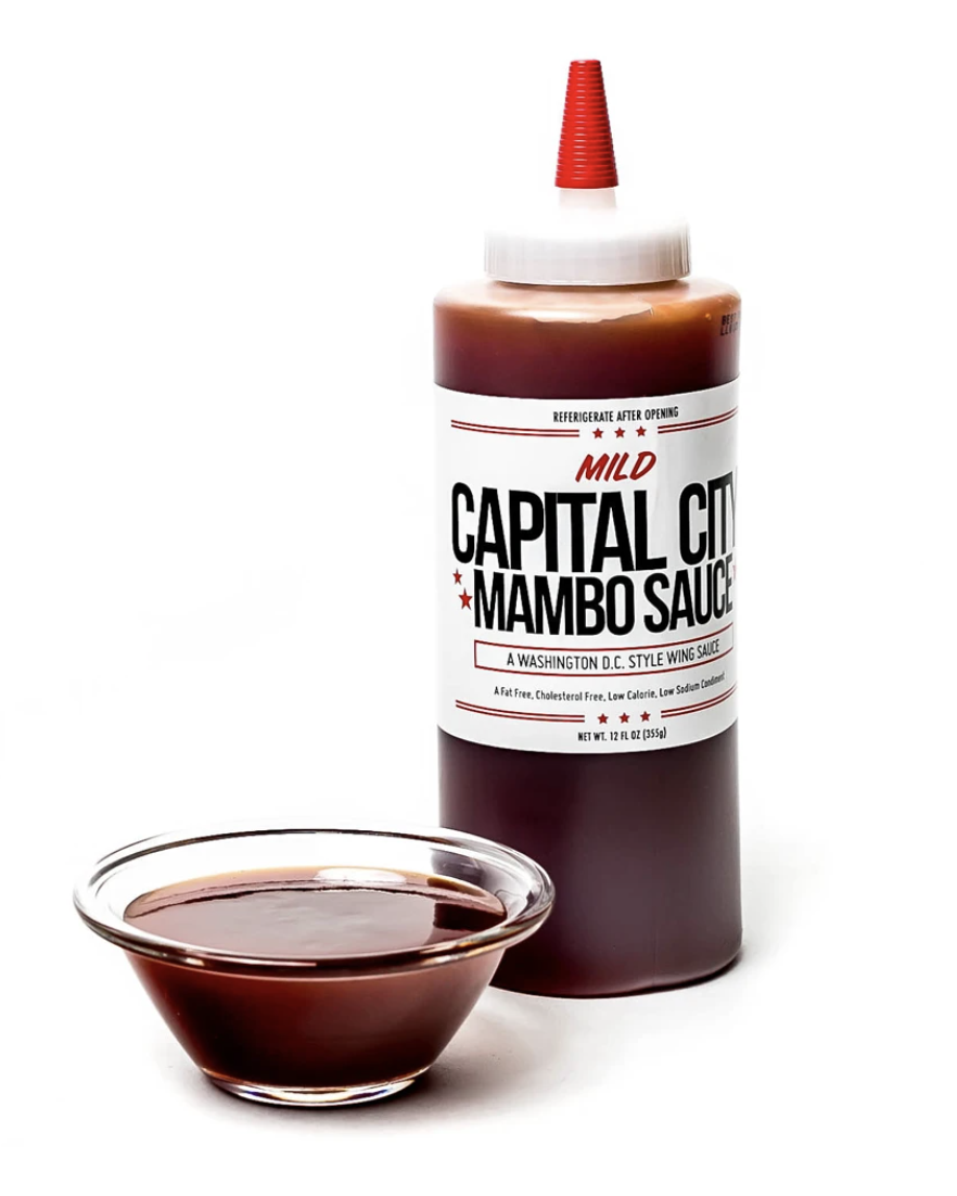 """- Capital City Co.As seen on the TV show Hot Ones, they're famous for their """"Mambo sauce"""" that comes in both hot and mild."""