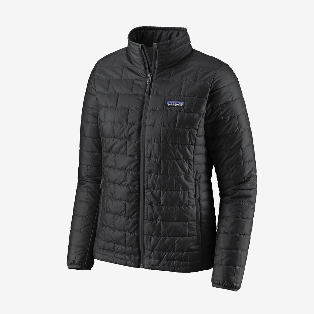 Patagonia Puffer Jacket This classic jacket comes in both men's and women's sizes and is my go-to jacket for hikes or just to throw on. The best part is that it folds into itself and they have updated their insulation to use recycled materials to reduce carbon emissions.