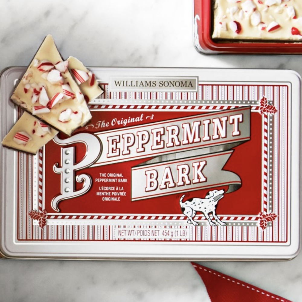 Peppermint Bark Williams Sonoma's seasonal chocolate is always a hit. You may want to buy two - one to keep and one to give away.