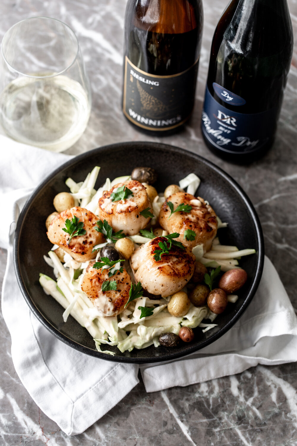 Seared Scallops with Green Apple Slaw Paired with German Riesling-28.jpg