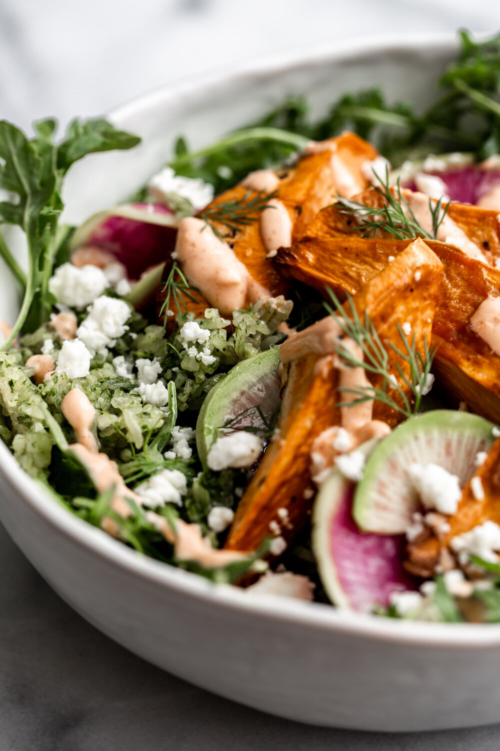 Spicy Green Herbed Crispy Rice Sweet Potato Bowl with Spicy Yogurt-34.jpg