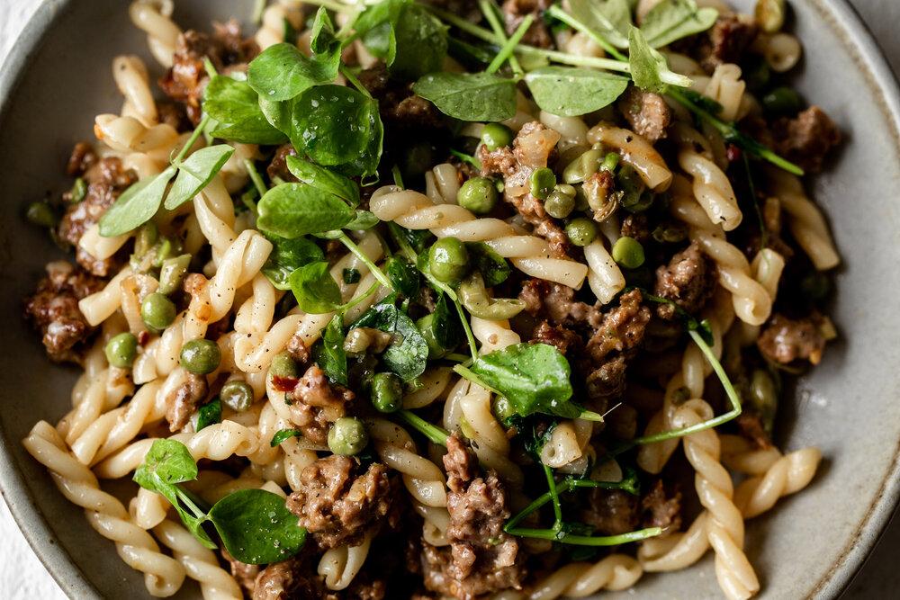Spring Lamb Pasta with Peas and Greens American Lamb-8.jpg