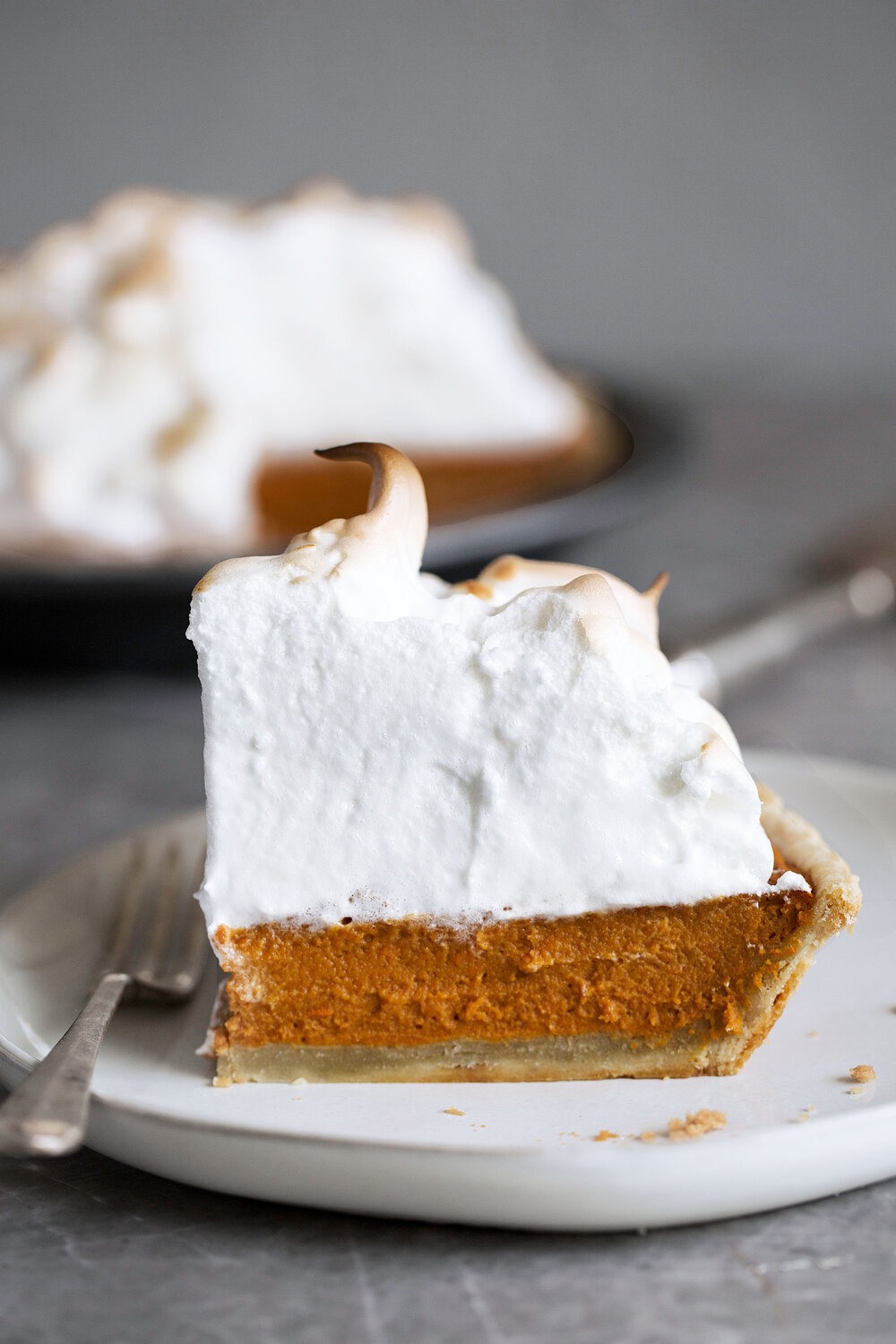 Sweet Potato Pie with Toasted Meringue Topping