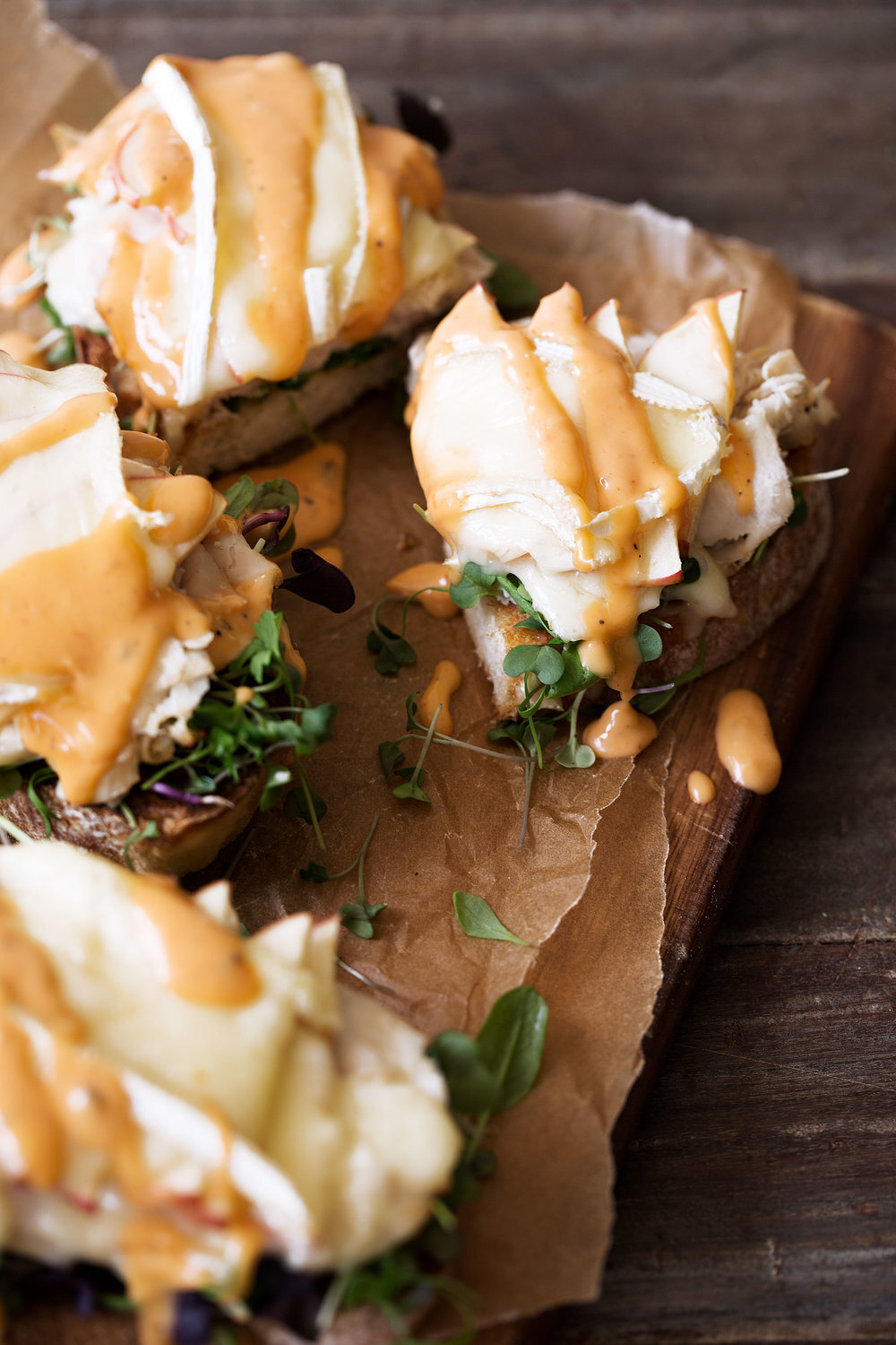 Turkey, Apple & Brie Open-Face Sandwich  I typically use deli-sliced turkey for this sandwich but you can easily swap in sliced pieces of turkey breast.