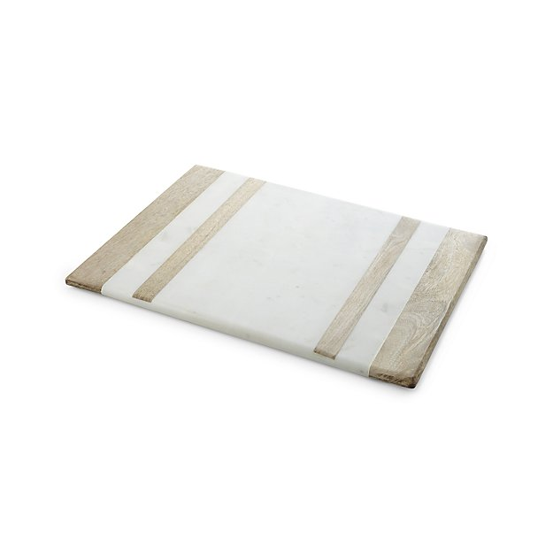 Wood and Marble Cheese Board Holiday entertaining is made easy with a cheese board (always a crowd pleaser). This wood and marble serving board will fit all of the cheese and charcuterie you could imagine.