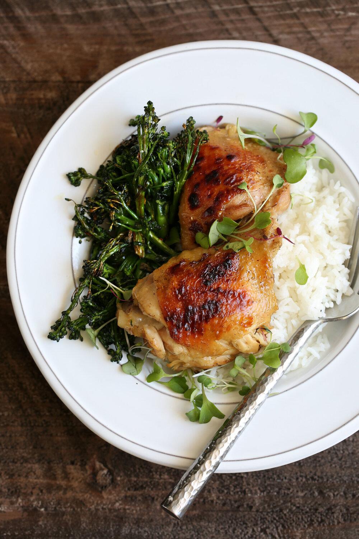 Braised Lemongrass Chicken Thighs