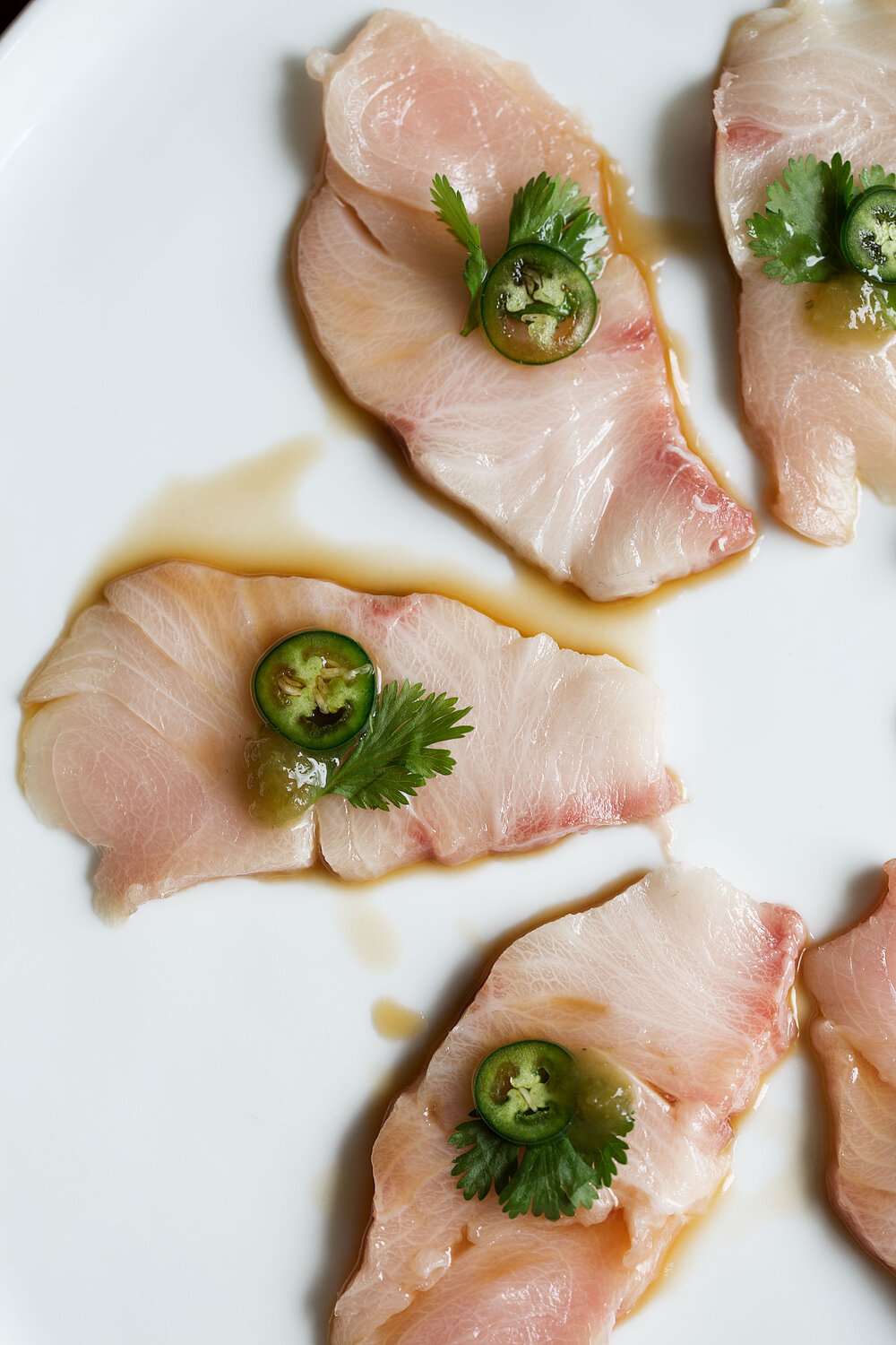 Yellowtail Sashimi with Serrano and Ponzu