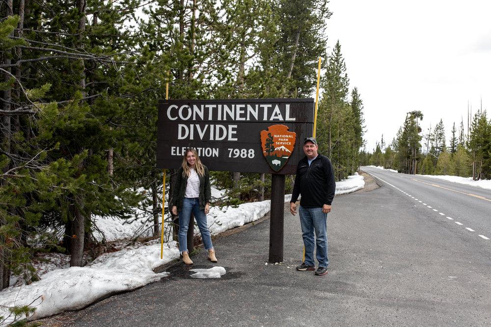 Continental divide Yellowstone national park Montana