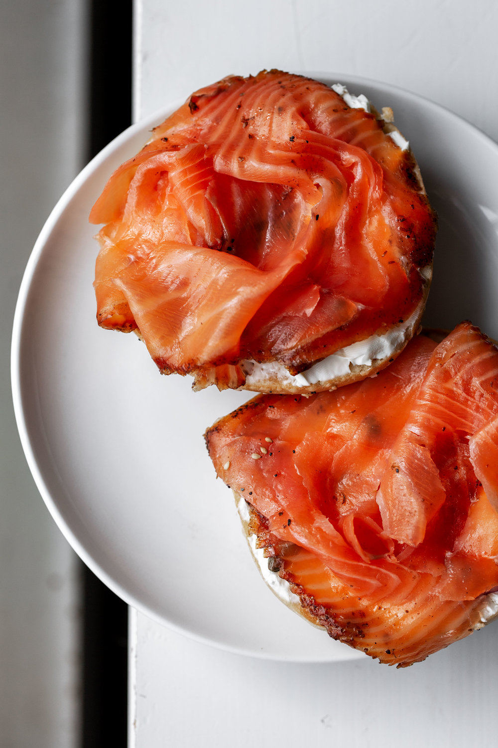 pastrami salmon russ and daughters bagel with cream cheese