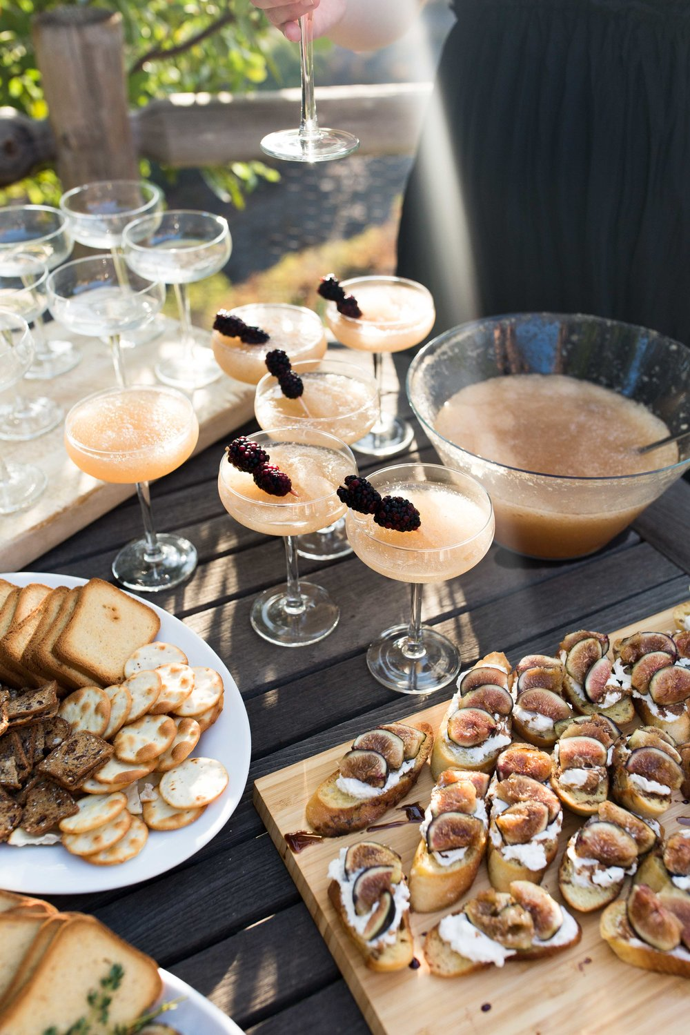 create dinner no. 6 french harvest cooking with cocktail rings frozé