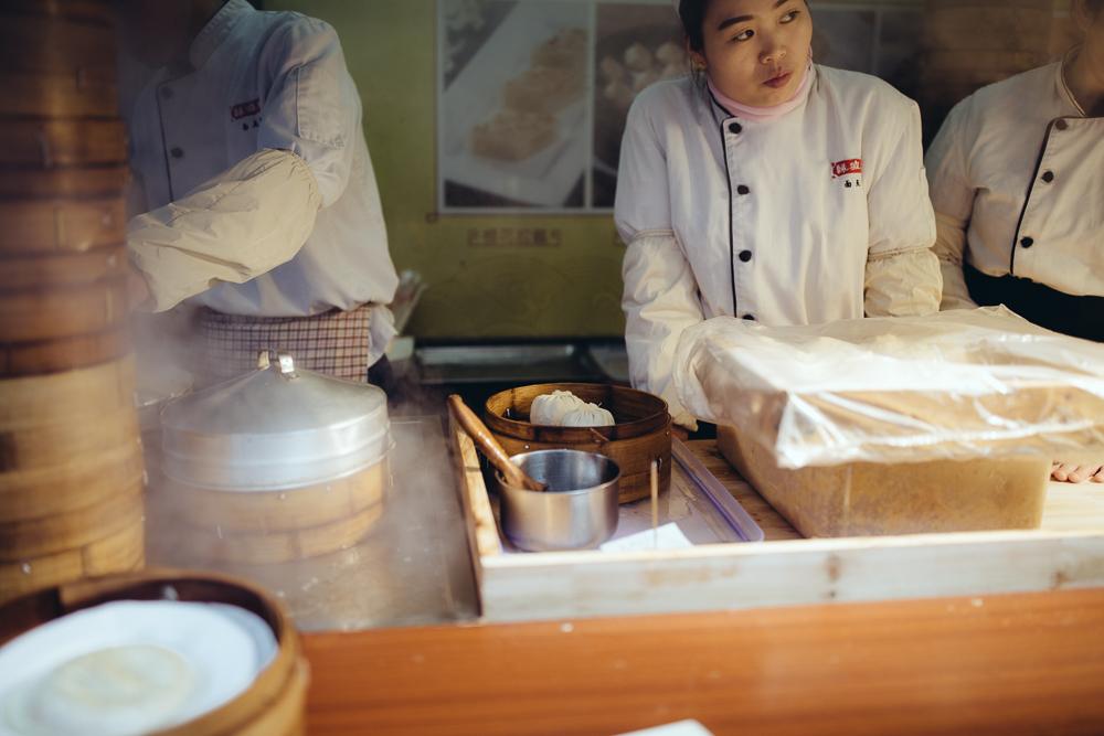 giant xaio long bao dumpling stand