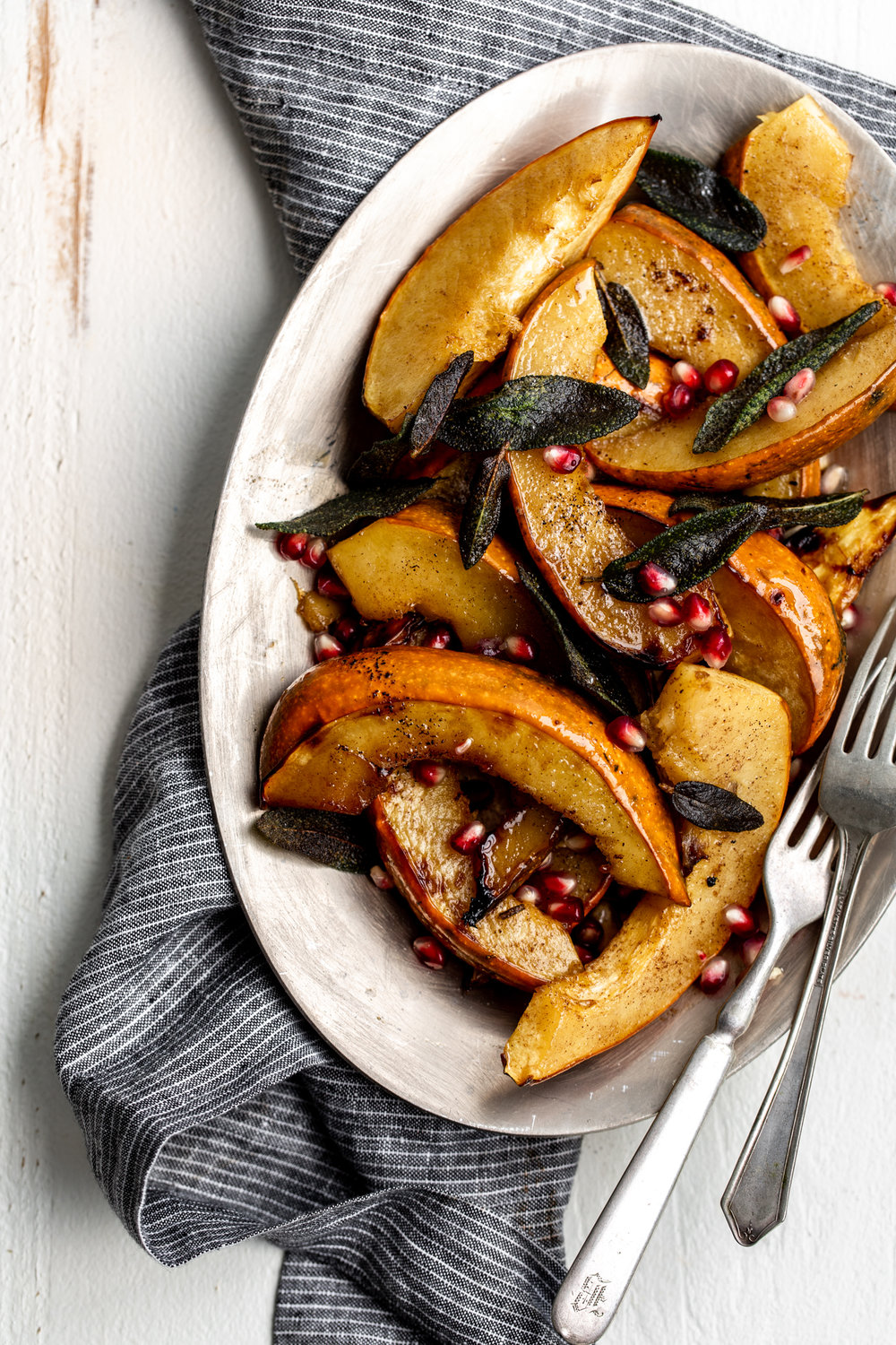 Roasted Acorn Squash with Sage recipe from cooking with cocktail rings