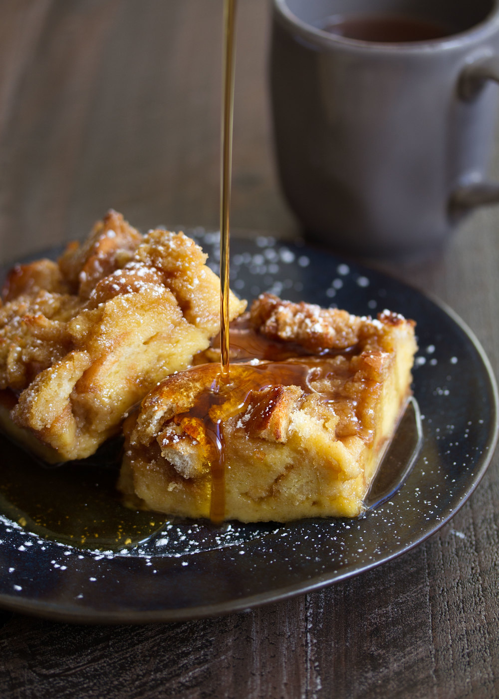 baked french toast closeup