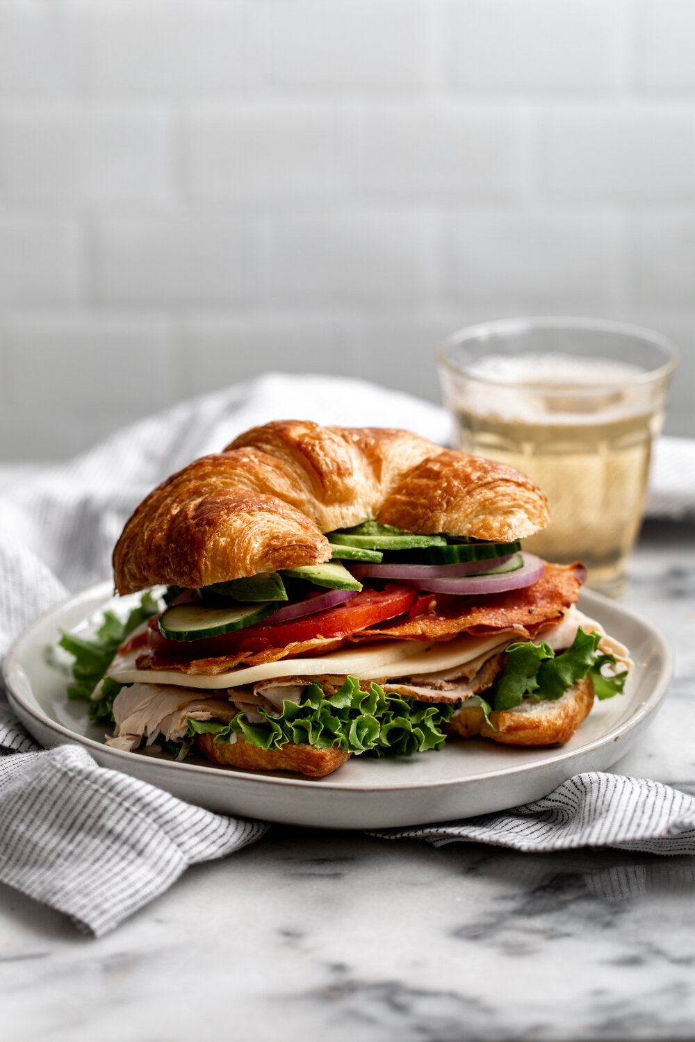 croissant club sandwich with crispy prosciutto recipe from cooking with cocktail rings
