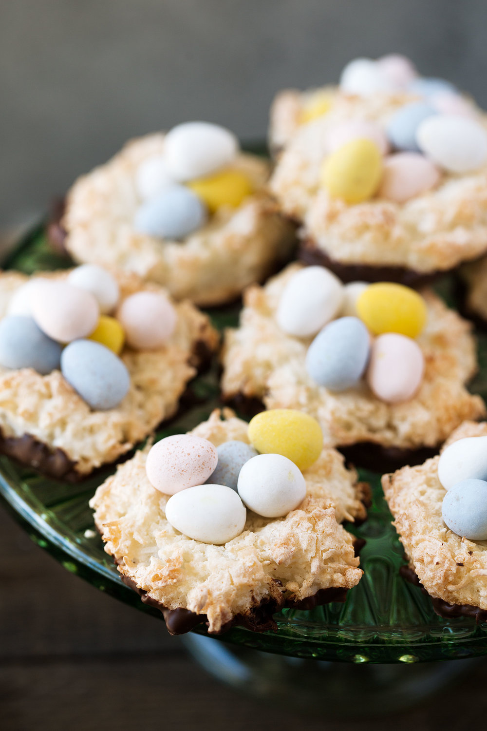 Easter Chocolate Coconut Macaroon Nests