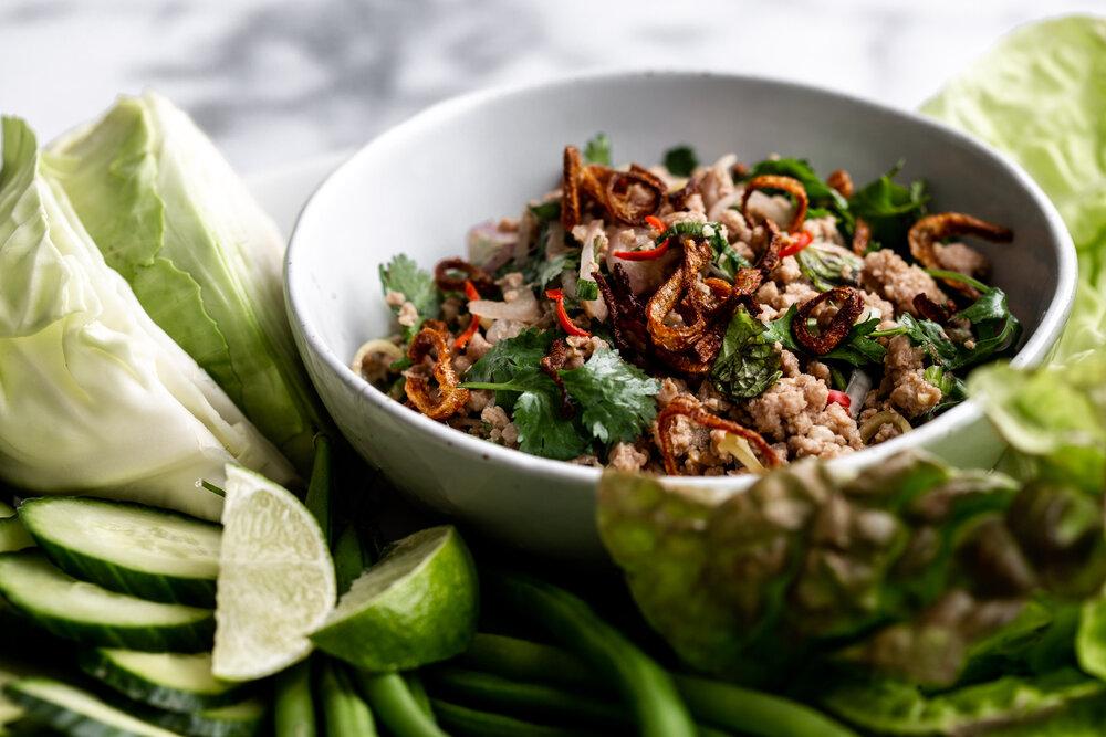 issan-style Thai Pork Larb