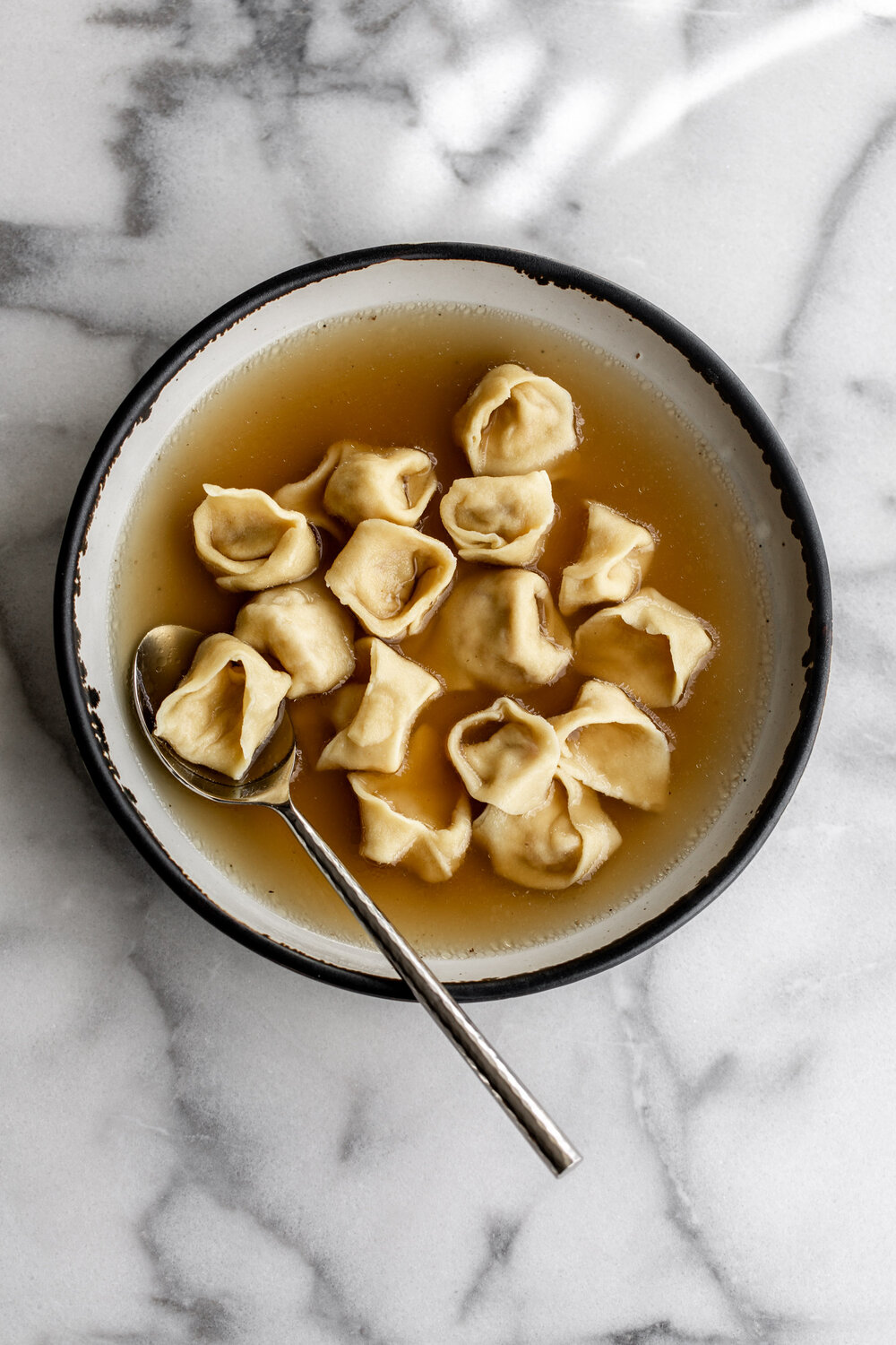 Tortellini En Brodo recipe from cooking with cocktail rings