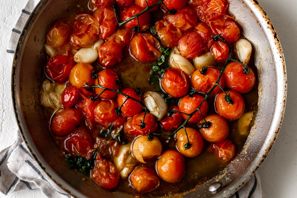 Roasted Tomato Risotto sautéed tomatoes