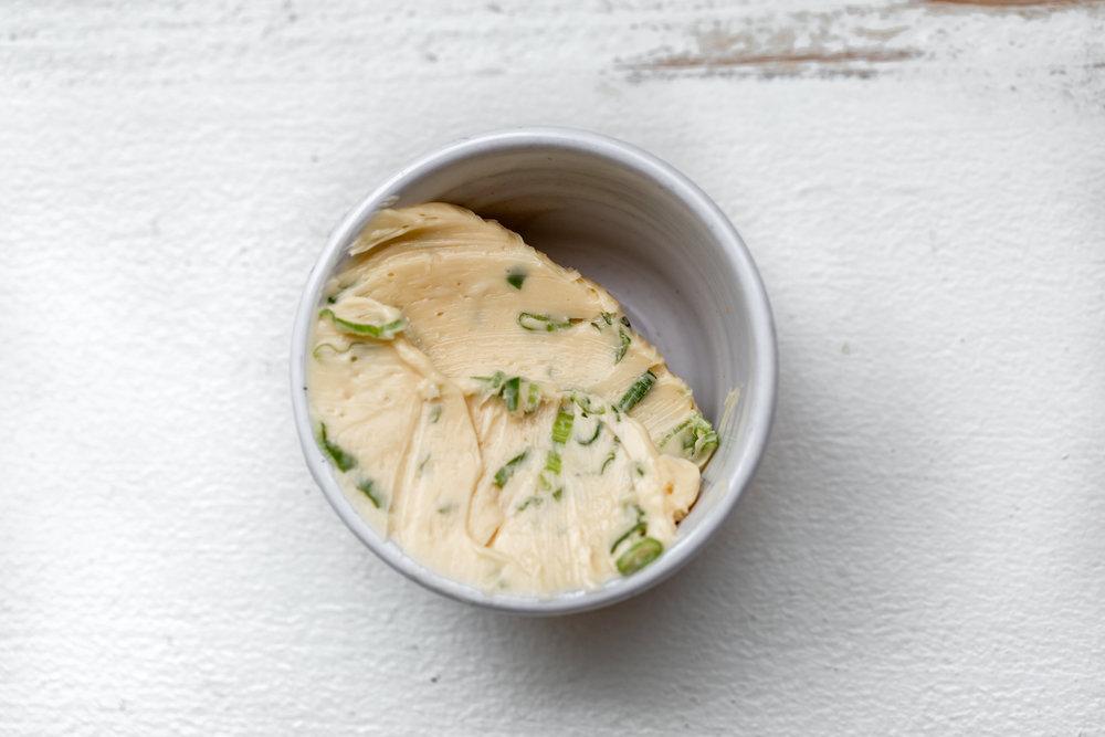 Scallion-Maple Butter ingredient shot