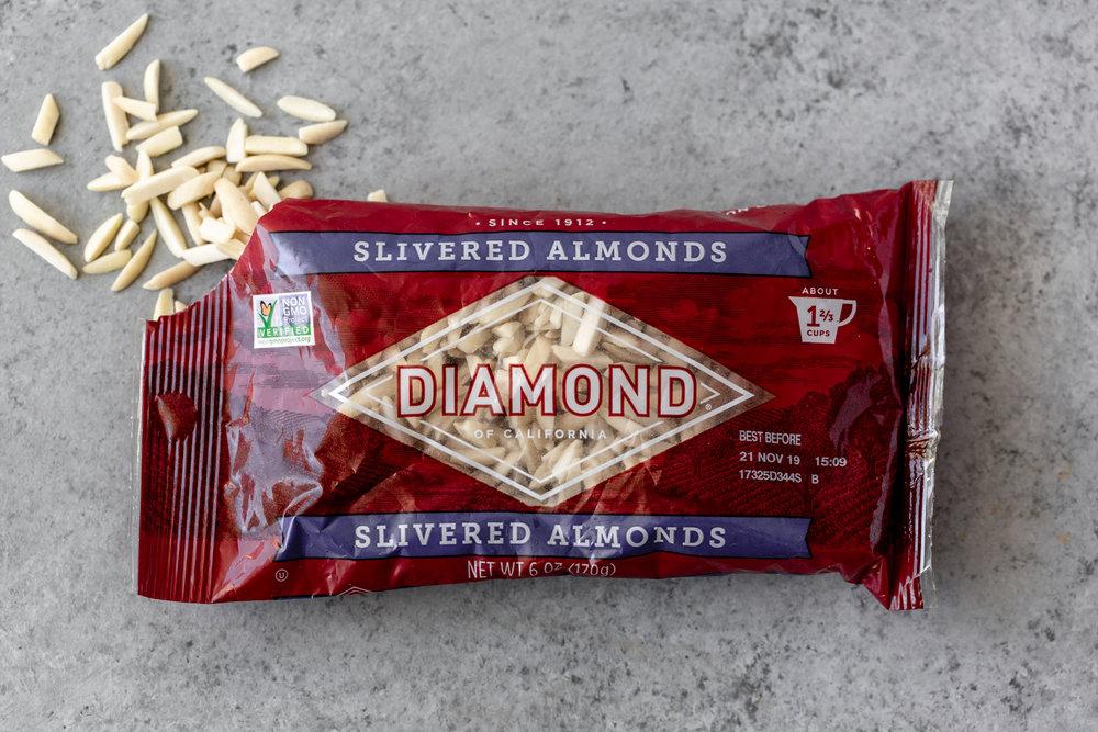 diamond nuts of california slivered almonds