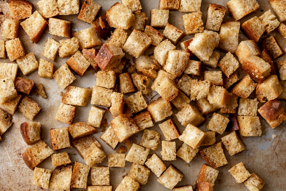 chili oil croutons from cooking with cocktail rings
