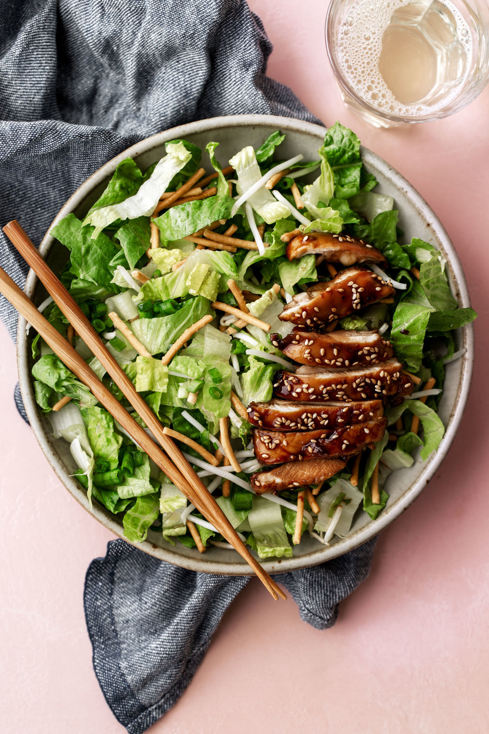 Crispy Teriyaki Chicken Saladrecipe from Cooking with Cocktail rings