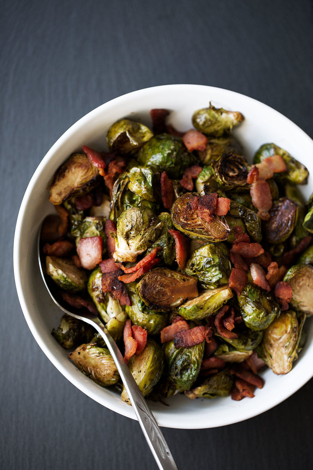 roasted balsamic brussels sprouts with bacon cooking with cocktail rings farmer john