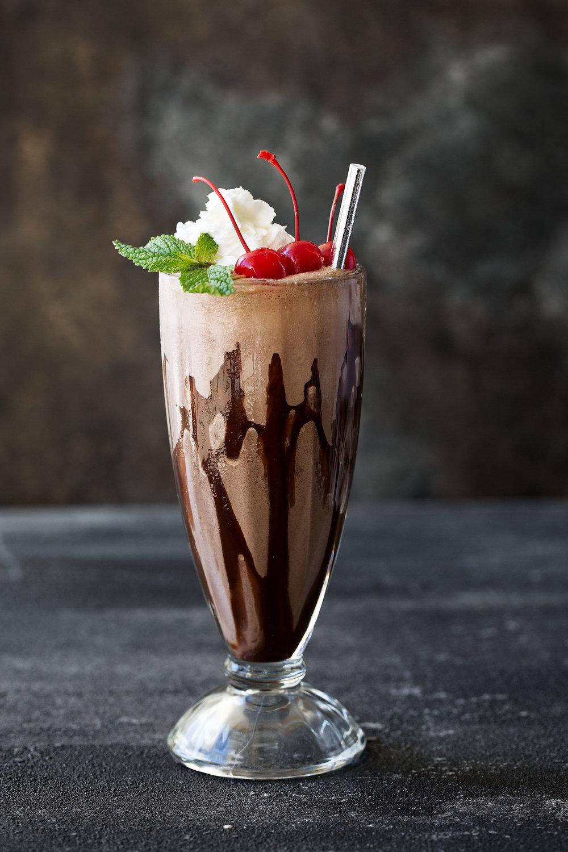 double chocolate malt shake