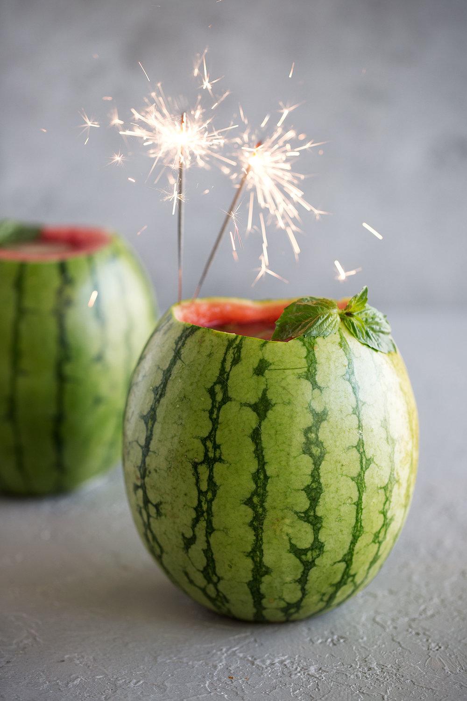 watermelon basil gimlet bucket