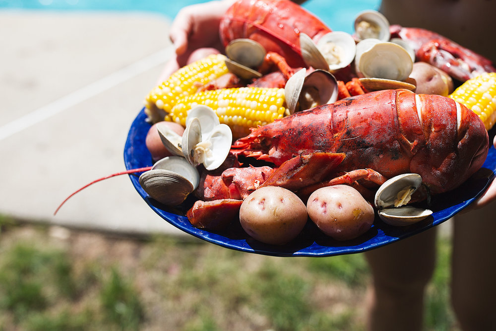 classic new england lobster boil