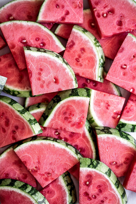 watermelon slices ingredient shot