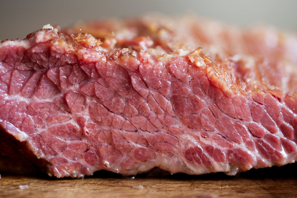 corned beef closeup