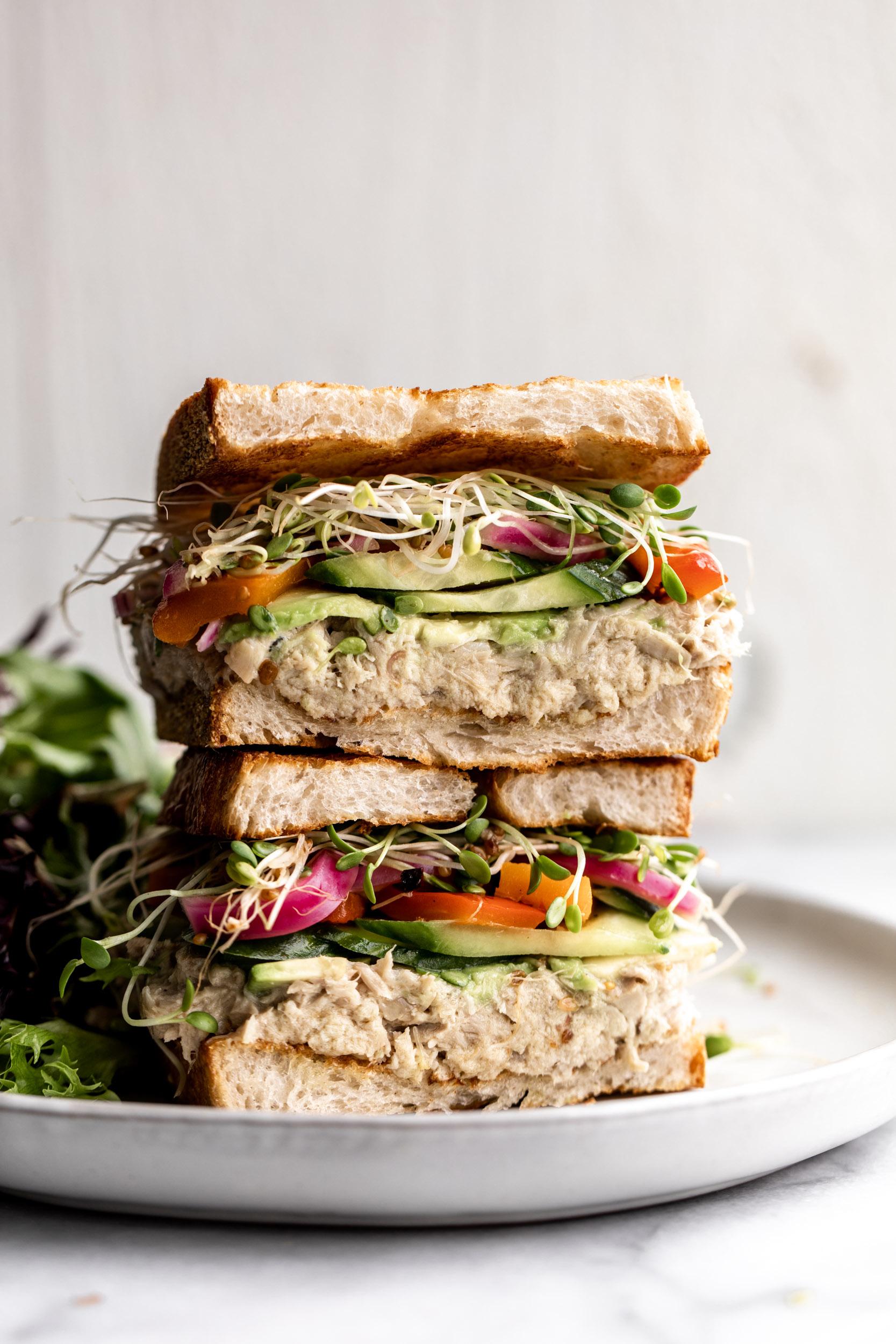 how to make Confit Tuna Sandwich