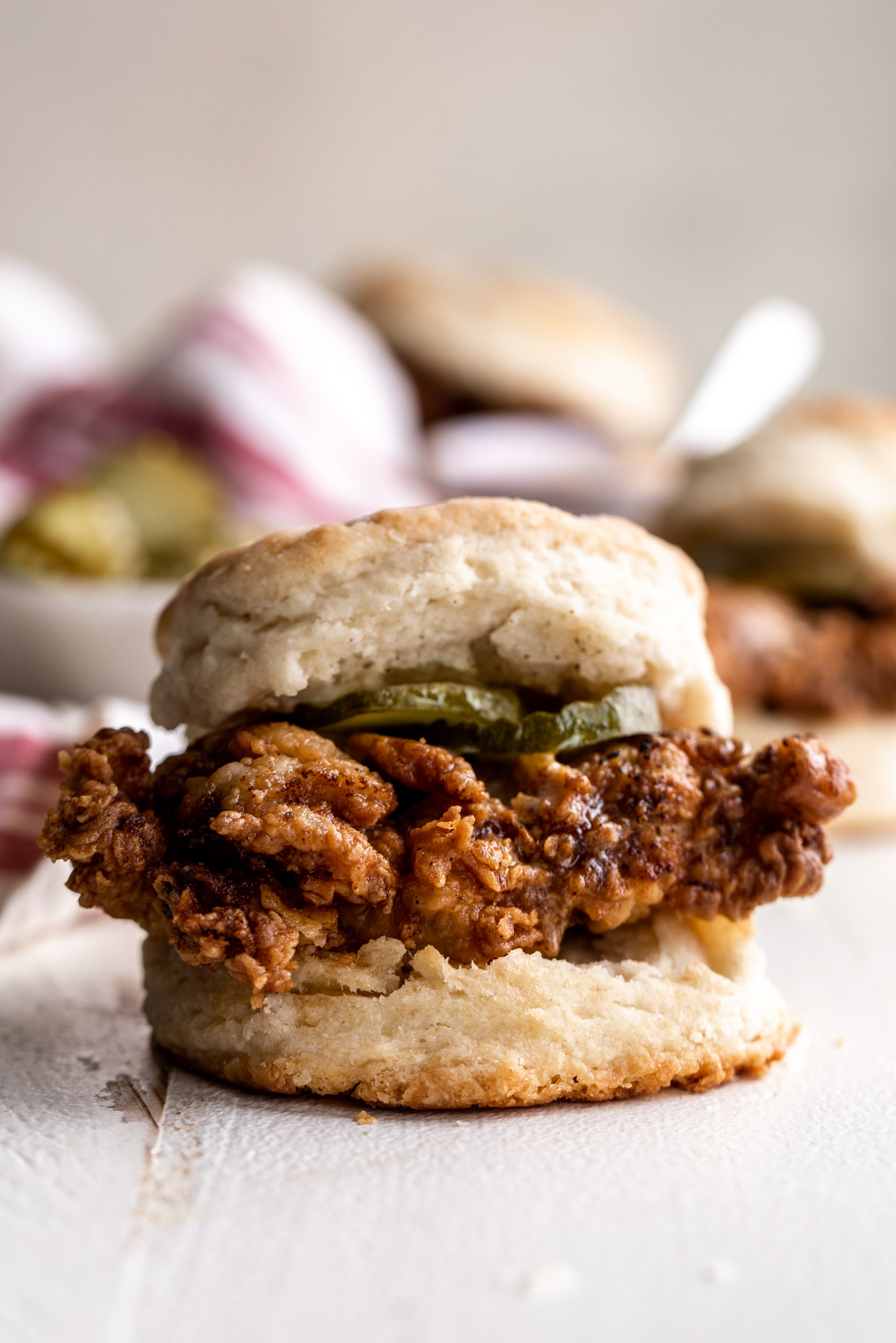 how to make Fried Chicken Biscuits