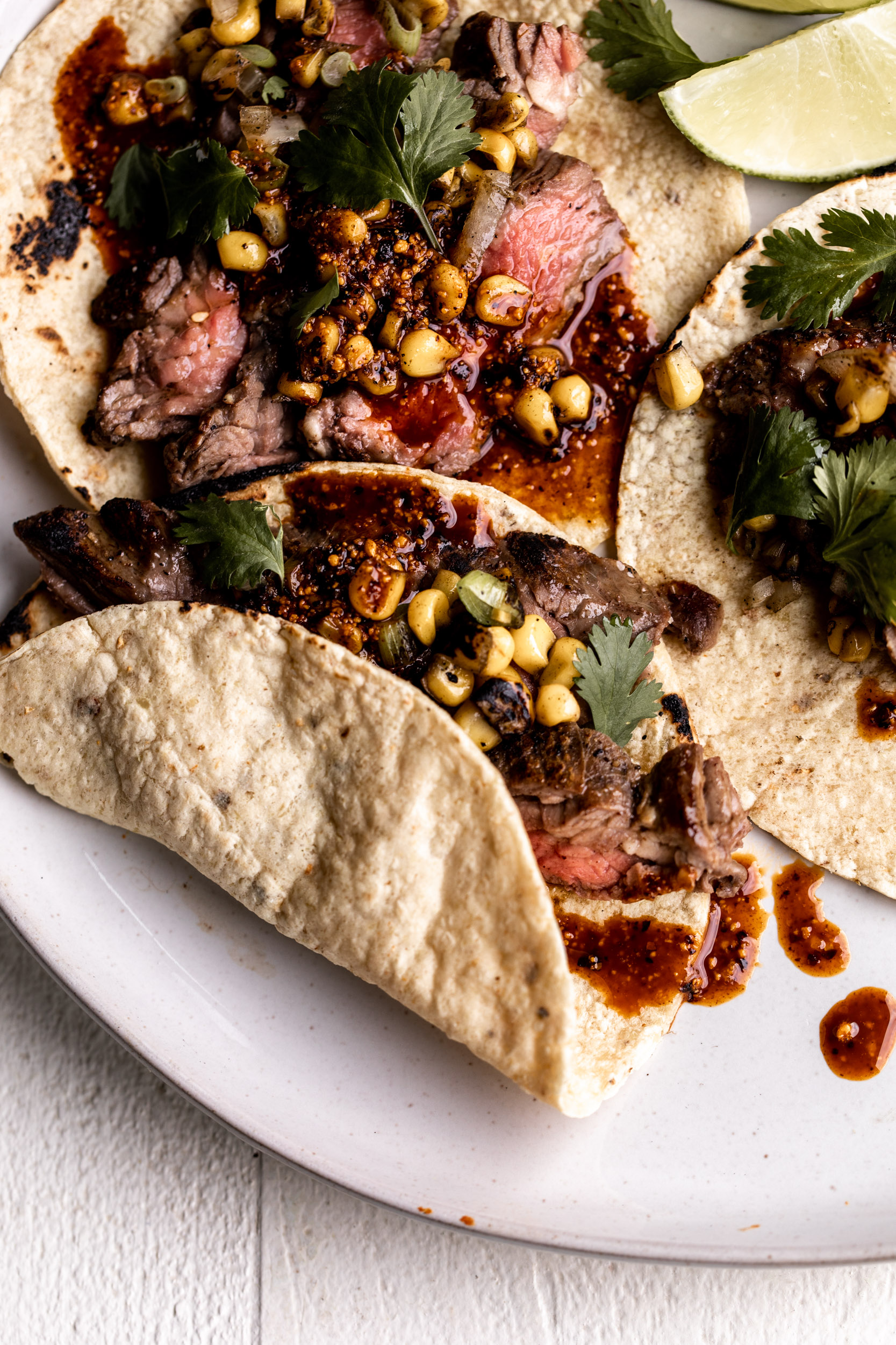 Seared Steak Tacos with Salsa Macha
