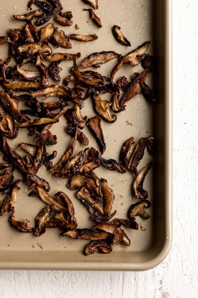 crispy shiitake mushrooms