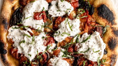 thin-crust pizza recipe