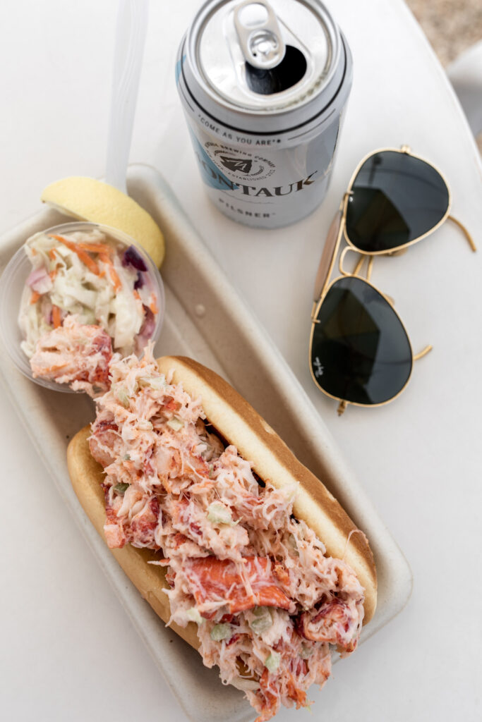 New England-style lobster roll and fried clam strips   30th Birthday Weekend in the Hamptons
